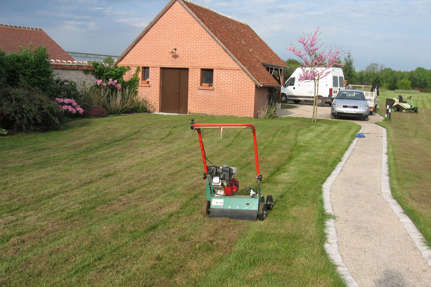 03 entretien de pelouse scarification henri paysage. Black Bedroom Furniture Sets. Home Design Ideas